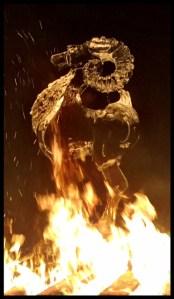 Ice Sculpture on fire