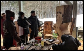 Wood Carving Class - Instructor Demonstrating Horse