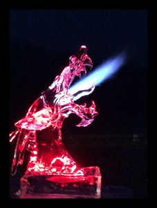 Dragon Ice Sculpture Breathing Fire