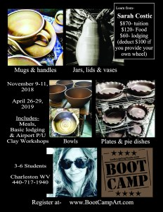 Clay Boot Camp Flyer