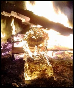Ice Sculpture by fire