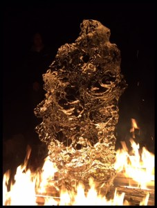 Ice Sculpture on fire
