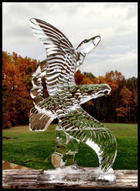 Eagle Ice Sculpture by Junici