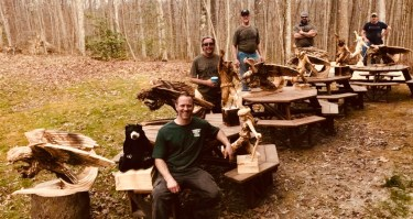 Students at the Wood Carving Boot Camp Classes