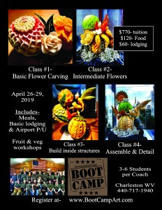 Vegetable Carving Boot Camp Flyer