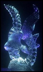 angelfish ice sculpture