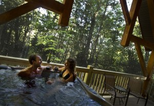 Private Deluxe Cabin Hot Tub