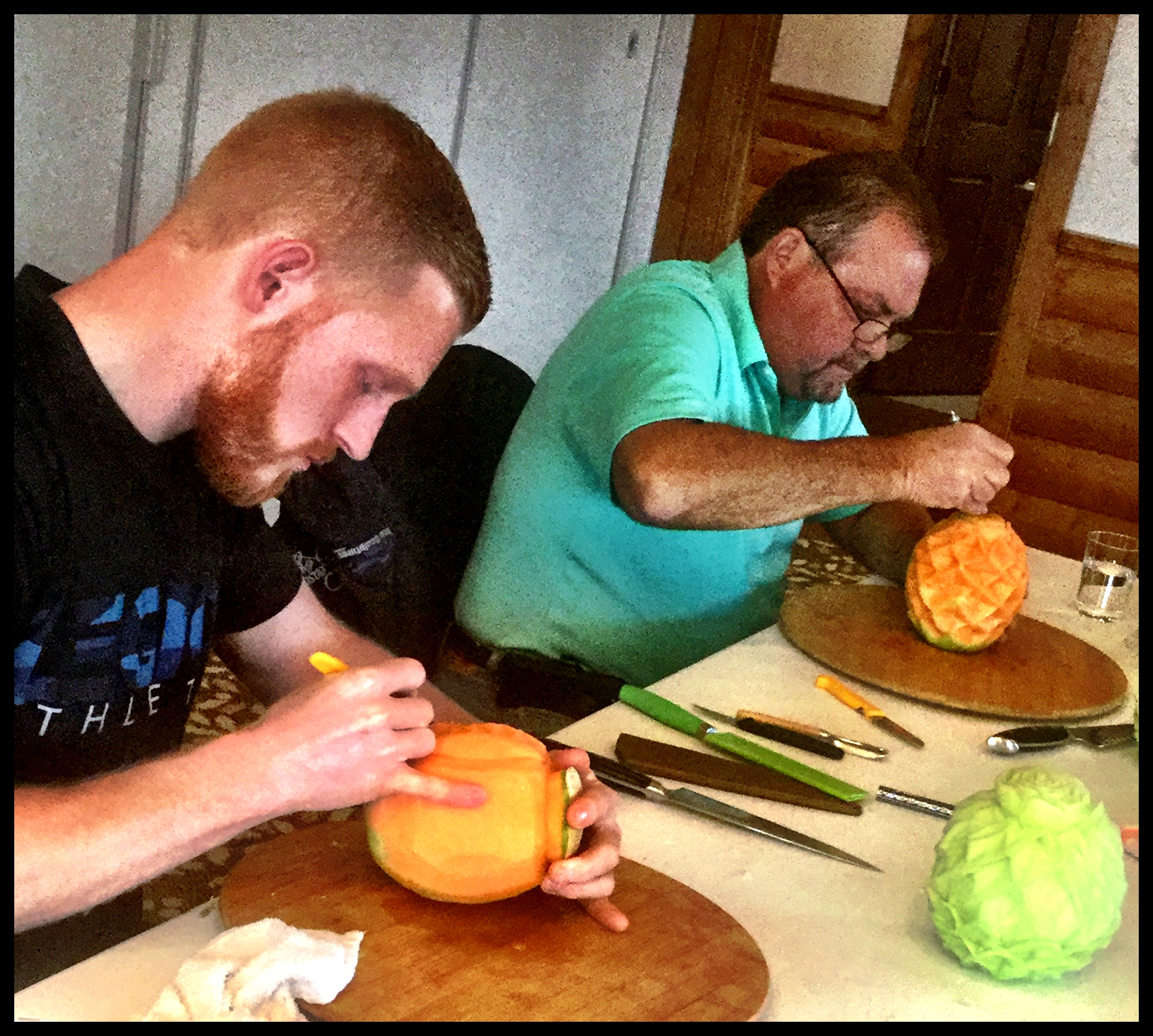 Vegetable Carving Students