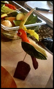 Bird Vegetable Carving