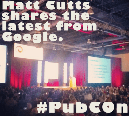 Matt Cutts talks about the future of Google at Pubcon