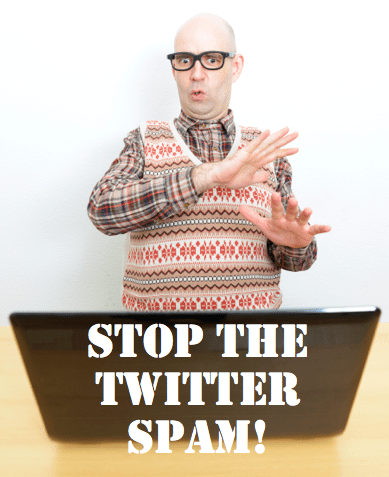 stop the twitter spam