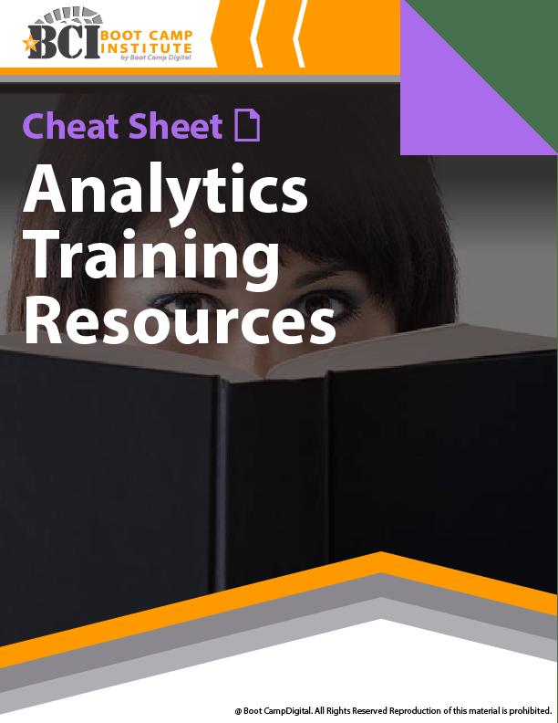 Cheat Sheet Analytics Training Resources