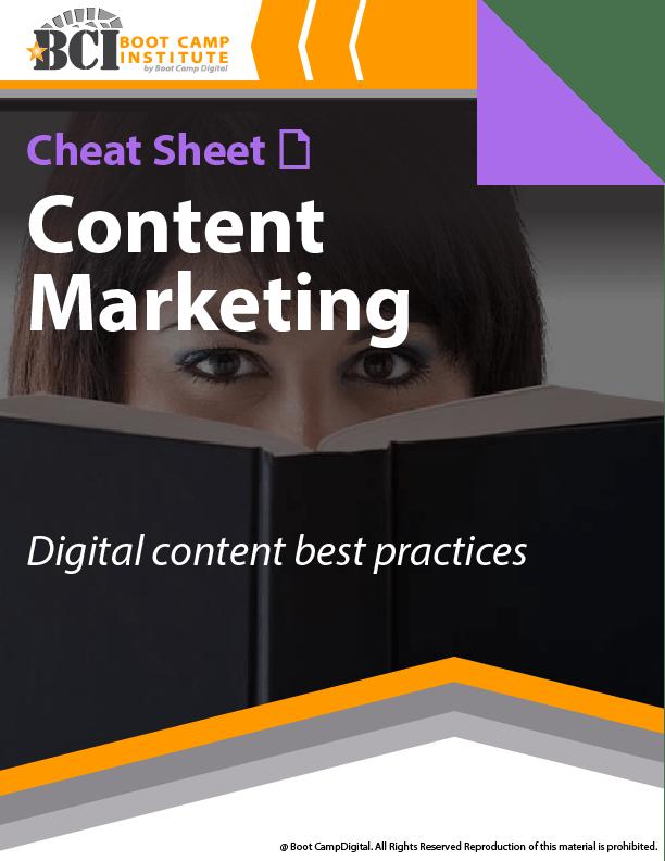 Cheat Sheet Content Marketing Best Practices