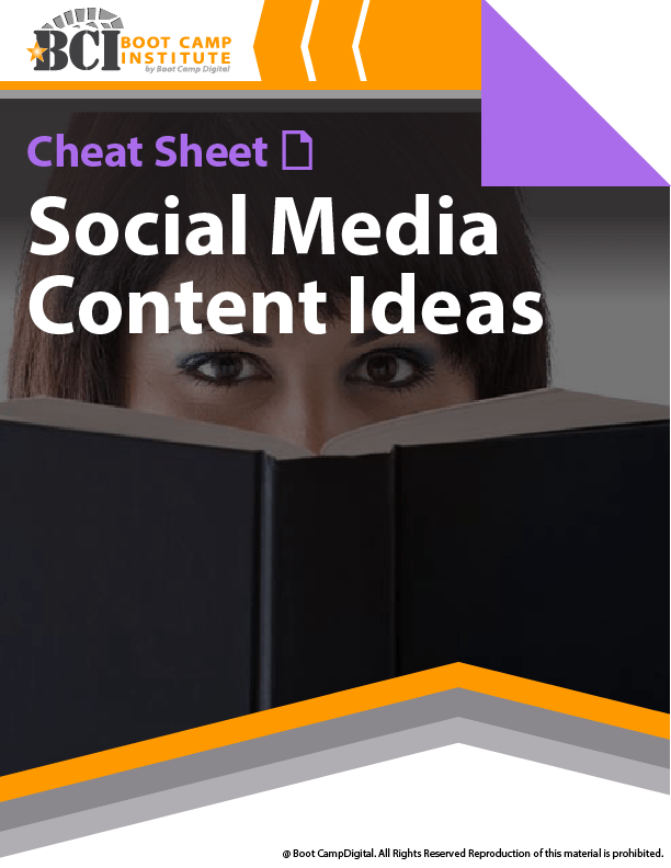 Cheat Sheet Social Media Content Ideas