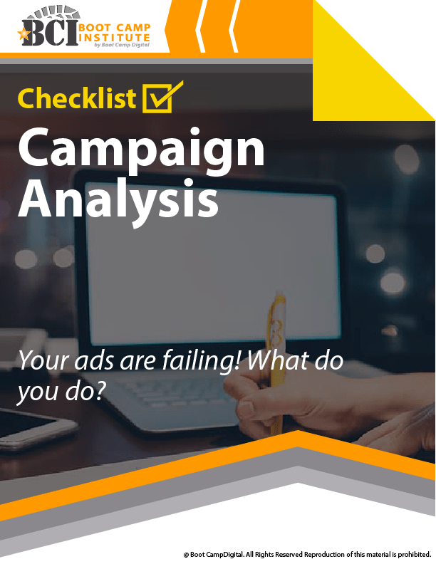 Checklist Campaign Analysis – Your Ads Are Failing. What Do You Do