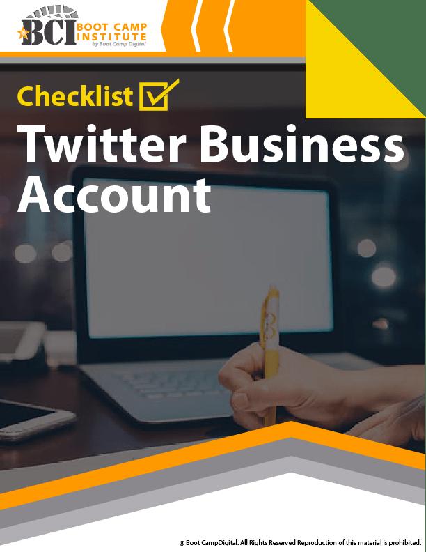 Checklist Twitter Business Account