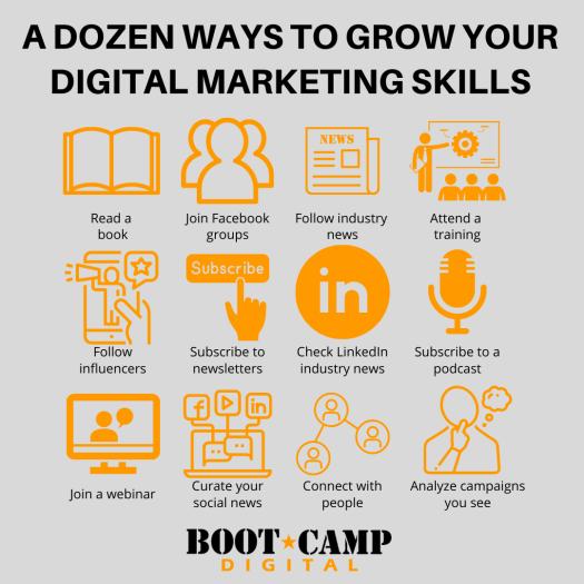 12 ways to grow your digital marketing skills (infographic)