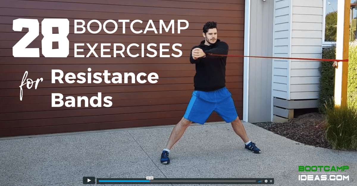 28 Bootcamp Exercises For Resistance Bands