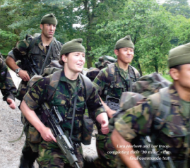 Dr Lara Herbert, then a Royal Navy Lieutenant, is the second woman to complete the All Arms Commando Course, and the first to complete in one go.