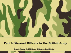 Part 04, WOs in the British Army