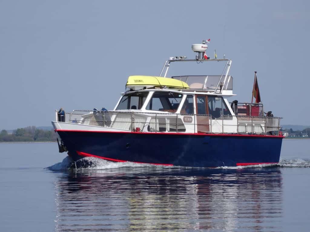 Unser altes Schiff: Ein klassischer holländischer Stahlverdränger. Ging wunderbar auf der Ostsee.