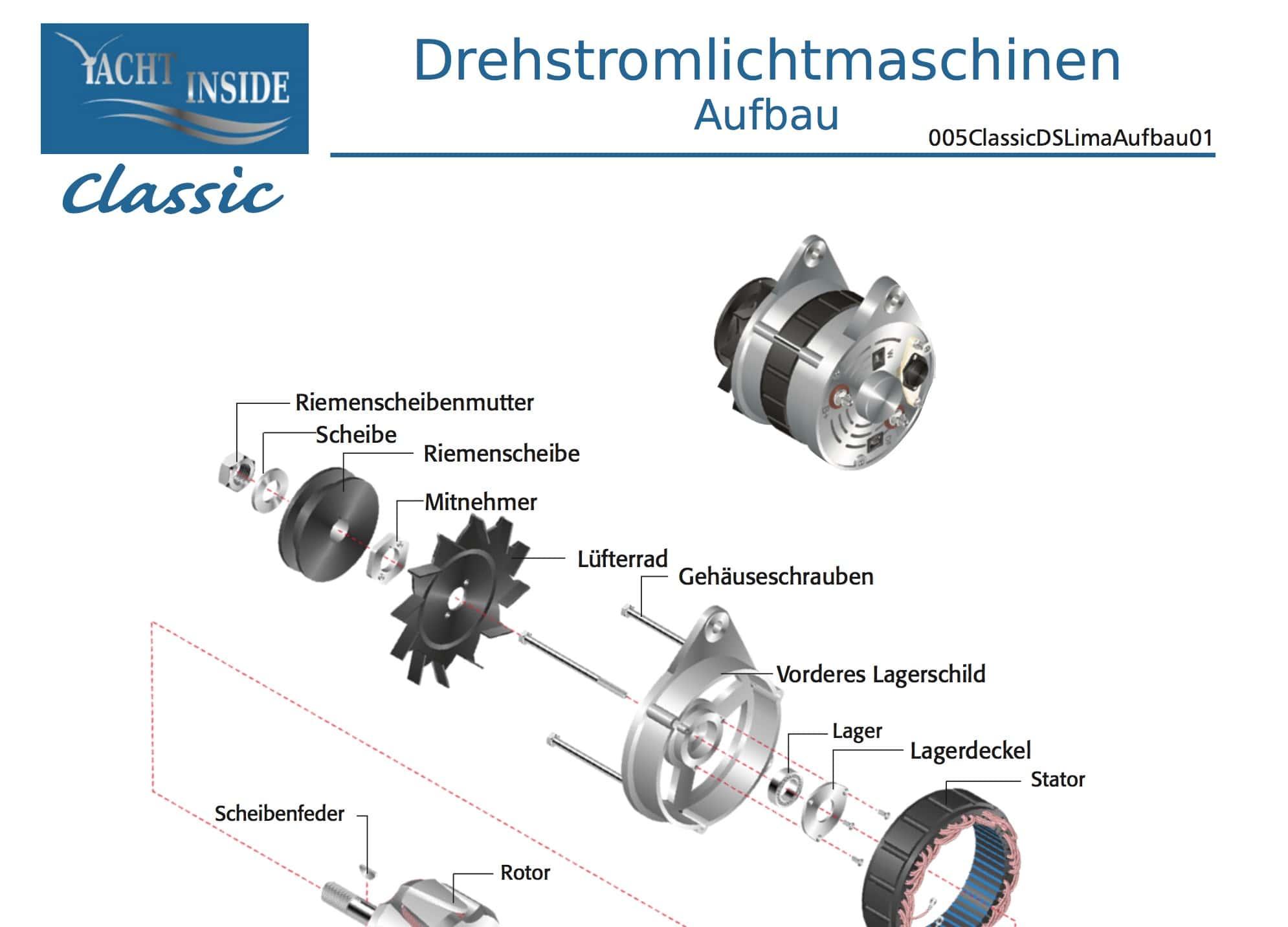 Wunderbar 1 Draht Lichtmaschine Marine Zeitgenössisch - Elektrische ...