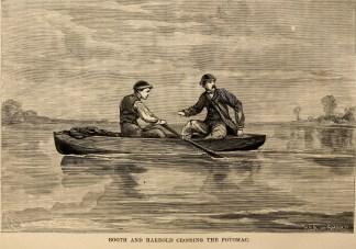 Herold and Booth Crossing the Potomac Baker