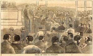 John Surratt Trial Drawing