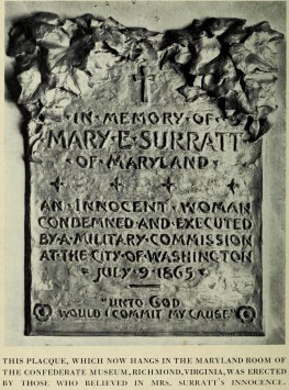 Mary Surratt Plaque