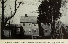 Rear of Surratt tavern 1933 Eisenschmil