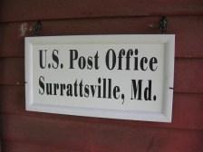 Surratt post office sign