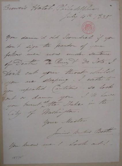 JBB letter to Pres Jackson