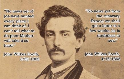 John Wilkes' writing about Joe's departure 1862