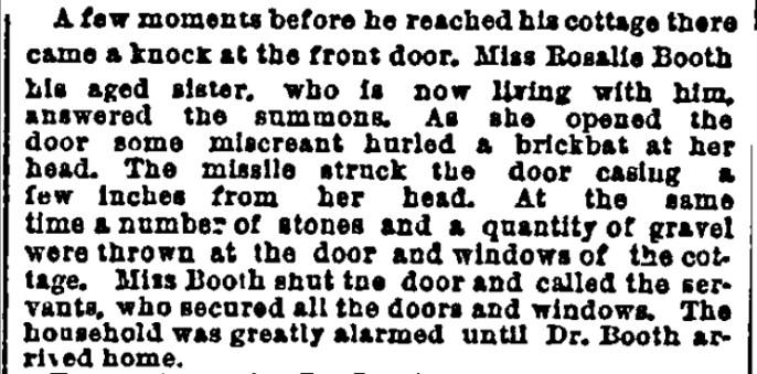 Rosalie narrowly dodges a brick NY Herald 12-16-1888
