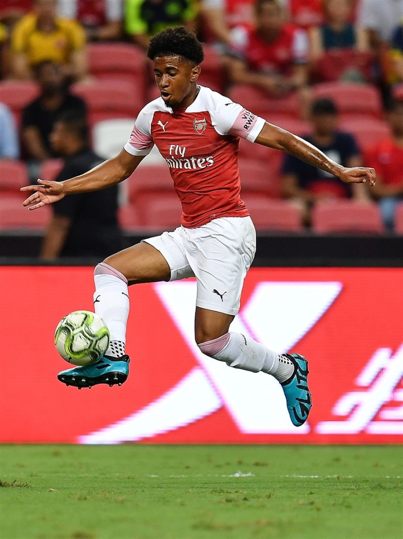 Reiss Nelson in the adidas Glitch