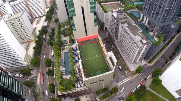 Best AG pitches in Singapore - Amara Rooftop