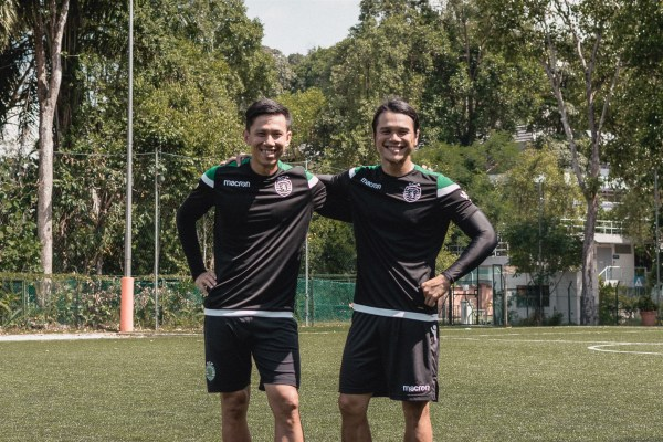 Terry Lee and Terence Ong from Urban Street Team coaching at the Sporting Lisbon Academy