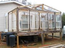 unfinished greenhouse