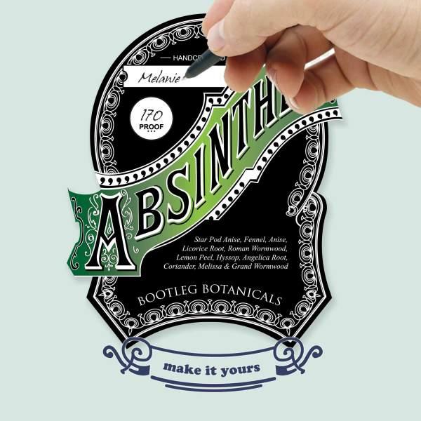 Personalizable Vintage Inspired Abisnthe Bottle Label