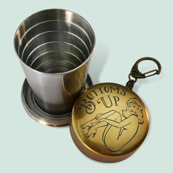 Gentleman's Portable Shotglass - Bottom's Up