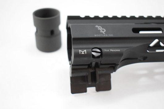 Close-up of Bootleg Inc's CamLok AR-15 Handguard attachment point