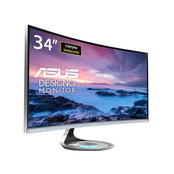 ASUS MX34VQ Designo Curved UWQHD frameless monitor
