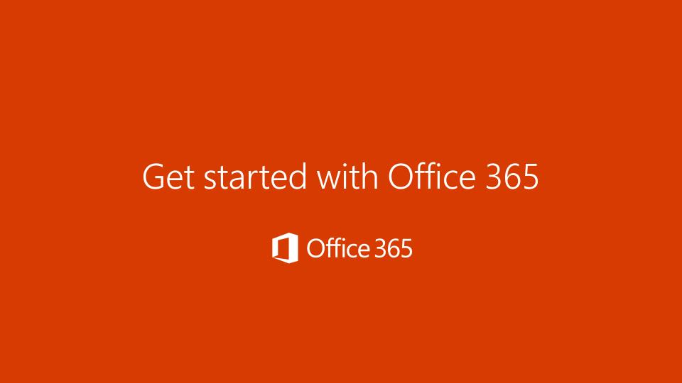 office 365 cloud email first steps