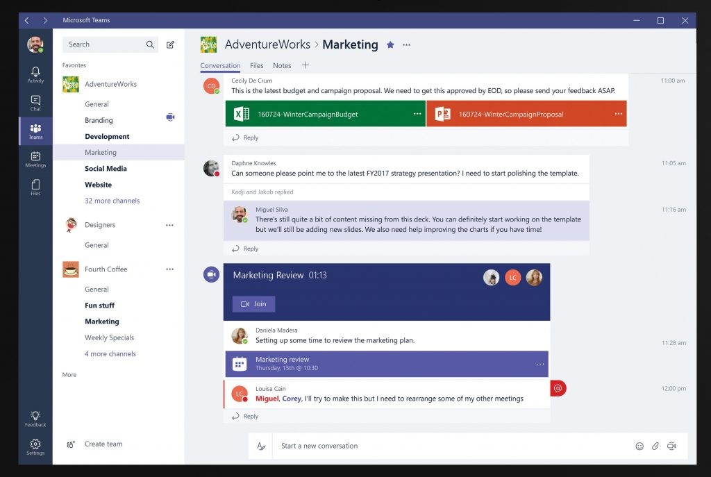 Office 365 Microsoft Teams and channels