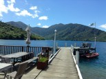 The Endeavour Inlet on a clear day from the jetty.