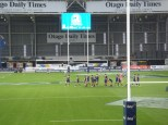 Warm ups during the Super Rugby Game