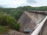 Crossing Fontana Dam and entering the Smokies