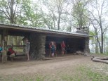 The shelters in the Smokies are mandatory to stay in but fortunately really well made!