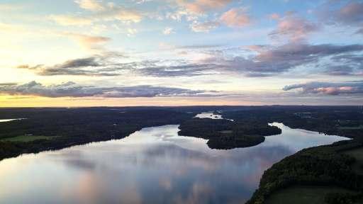 Kanuregion Dalsland - See von oben