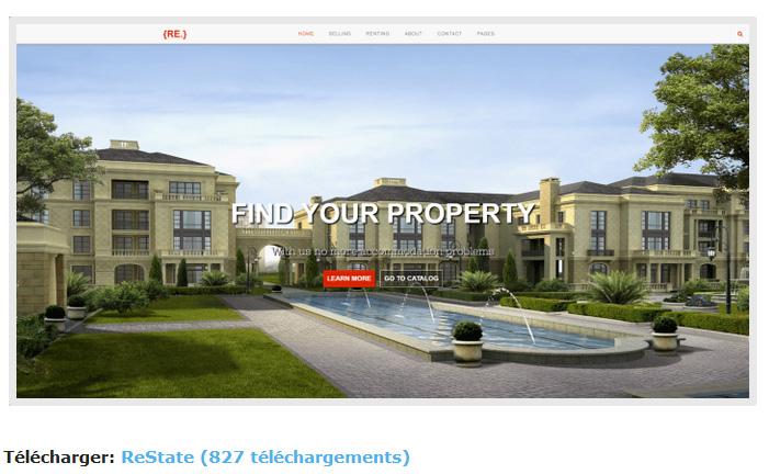 thème immobilier gratuit